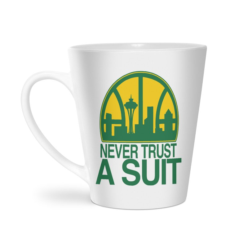 What Happened to the Sonics? Accessories Latte Mug by Mike Hampton's T-Shirt Shop