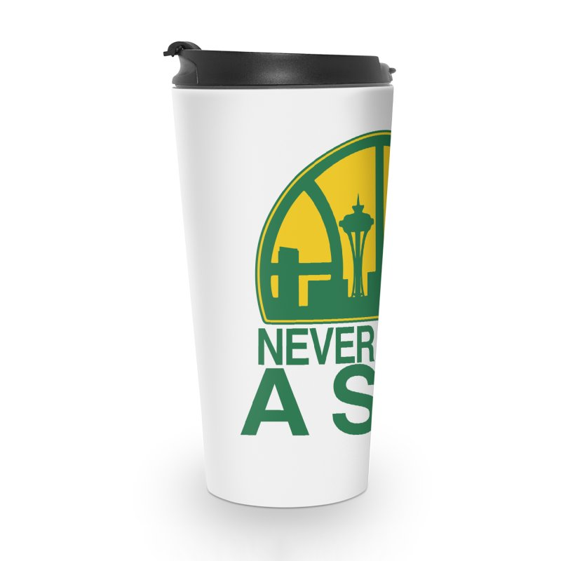 What Happened to the Sonics? Accessories Travel Mug by Mike Hampton's T-Shirt Shop