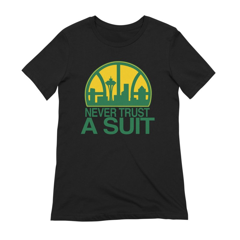 What Happened to the Sonics? Women's Extra Soft T-Shirt by Mike Hampton's T-Shirt Shop
