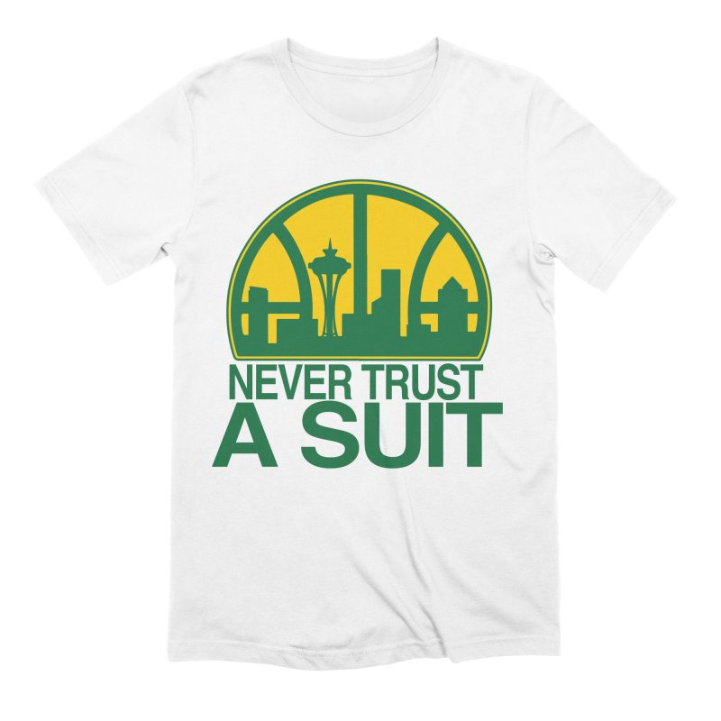 What Happened to the Sonics? Men's Extra Soft T-Shirt by Mike Hampton's T-Shirt Shop