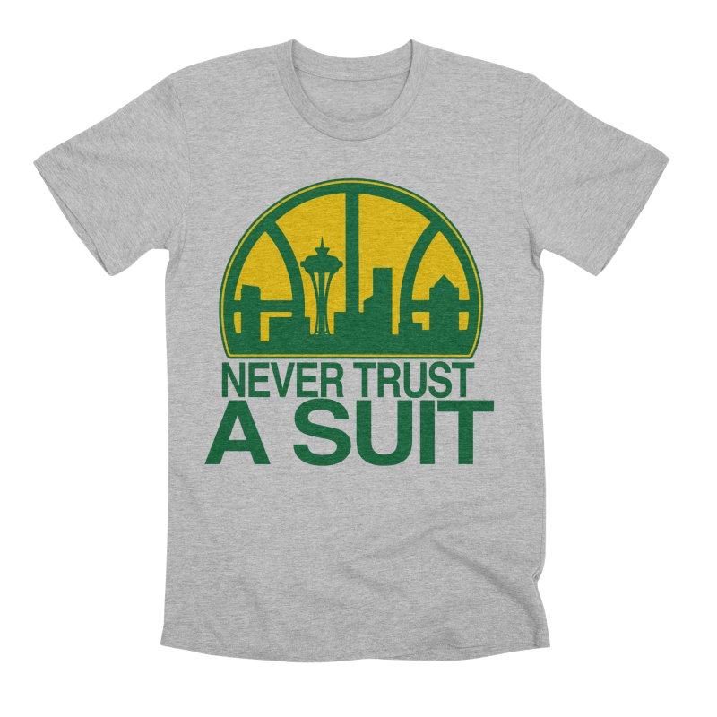 What Happened to the Sonics? Men's T-Shirt by Mike Hampton's T-Shirt Shop