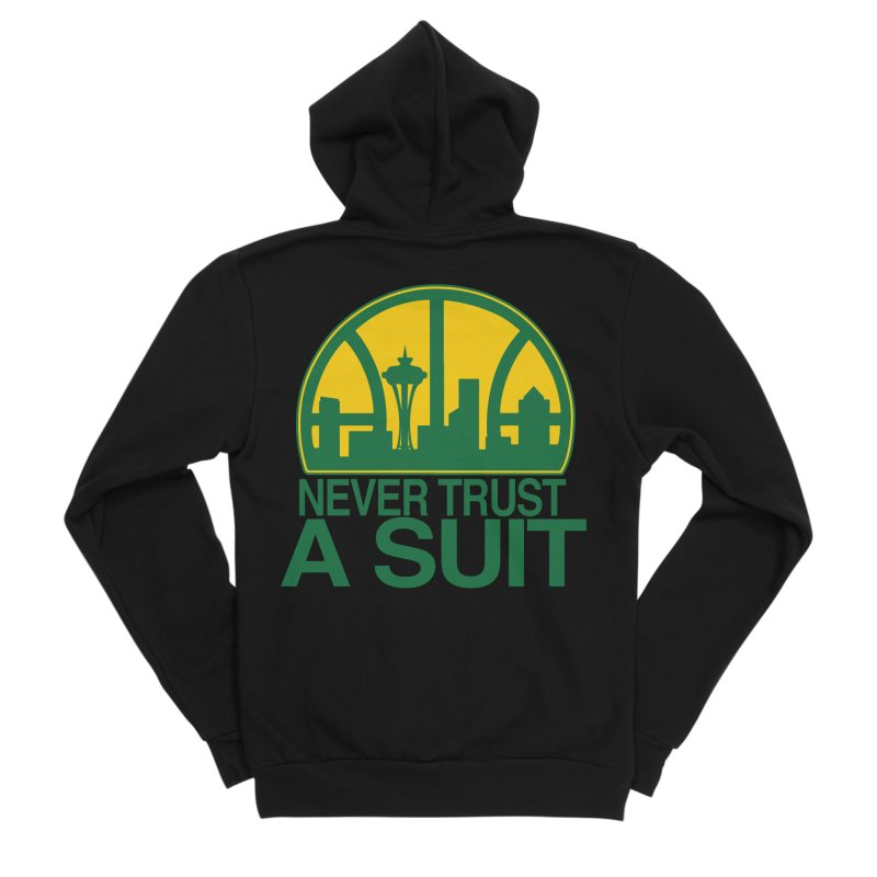 What Happened to the Sonics? Women's Sponge Fleece Zip-Up Hoody by Mike Hampton's T-Shirt Shop