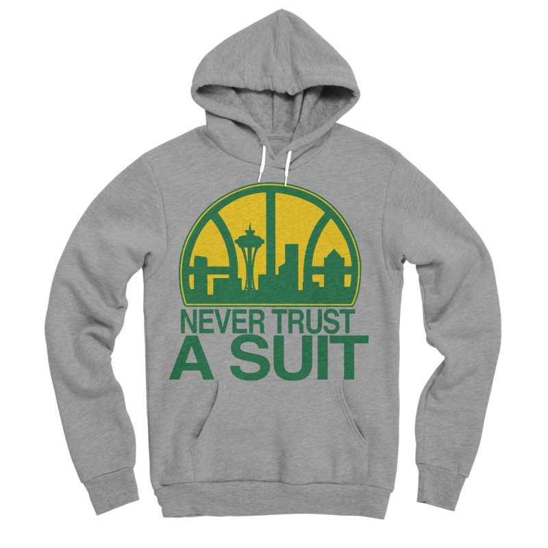 What Happened to the Sonics? Men's Sponge Fleece Pullover Hoody by Mike Hampton's T-Shirt Shop