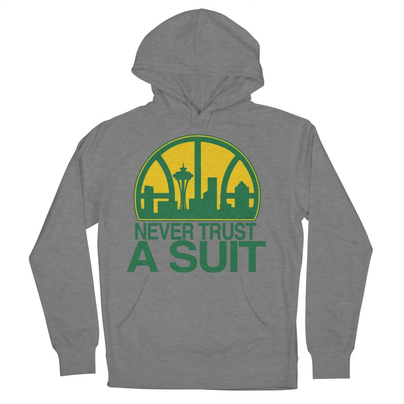 What Happened to the Sonics? Men's French Terry Pullover Hoody by Mike Hampton's T-Shirt Shop