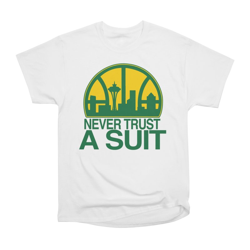 What Happened to the Sonics? Men's Heavyweight T-Shirt by Mike Hampton's T-Shirt Shop