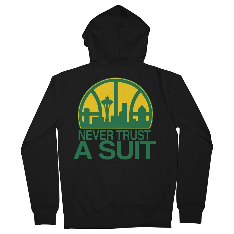What Happened to the Sonics? Women's French Terry Zip-Up Hoody by Mike Hampton's T-Shirt Shop