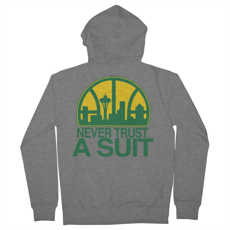 What Happened to the Sonics? Men's Zip-Up Hoody by Mike Hampton's T-Shirt Shop
