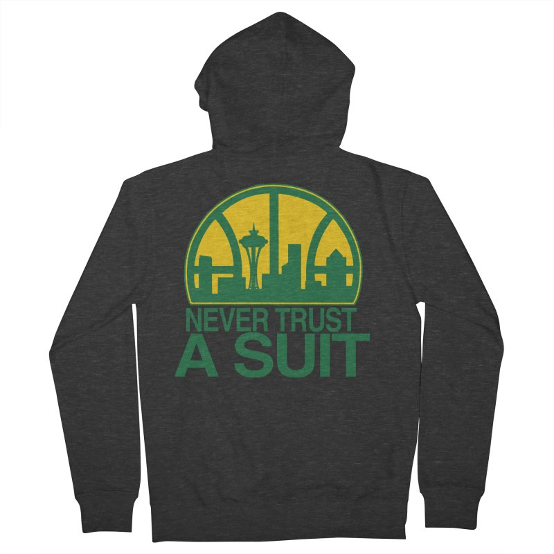 What Happened to the Sonics? Men's French Terry Zip-Up Hoody by Mike Hampton's T-Shirt Shop
