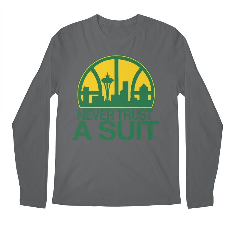What Happened to the Sonics? Men's Longsleeve T-Shirt by Mike Hampton's T-Shirt Shop