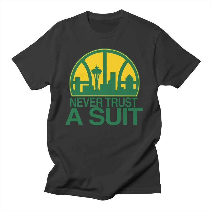 What Happened to the Sonics? Men's Regular T-Shirt by Mike Hampton's T-Shirt Shop