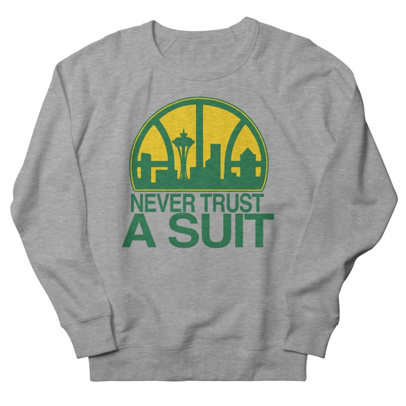 What Happened to the Sonics? Men's French Terry Sweatshirt by Mike Hampton's T-Shirt Shop