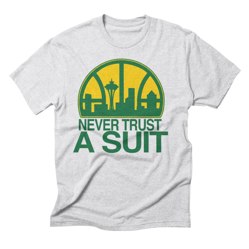 What Happened to the Sonics? Men's Triblend T-Shirt by Mike Hampton's T-Shirt Shop