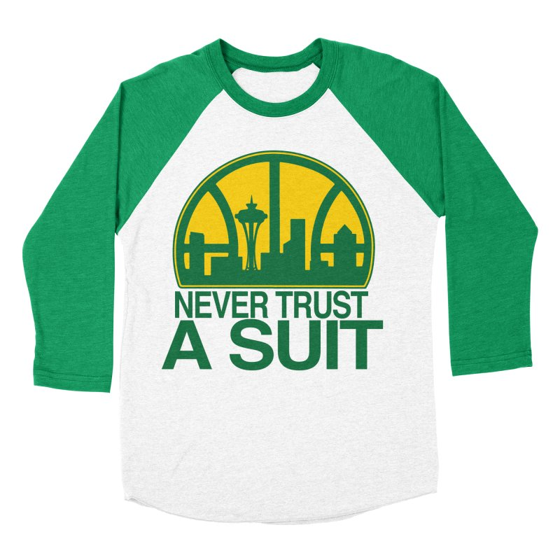 What Happened to the Sonics? Women's Baseball Triblend Longsleeve T-Shirt by Mike Hampton's T-Shirt Shop