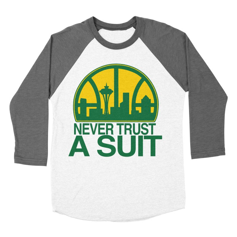 What Happened to the Sonics? Men's Baseball Triblend Longsleeve T-Shirt by Mike Hampton's T-Shirt Shop