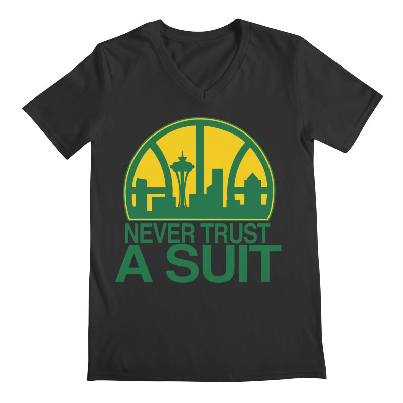What Happened to the Sonics? Men's V-Neck by Mike Hampton's T-Shirt Shop