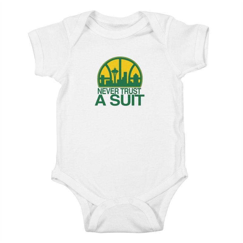 What Happened to the Sonics? Kids Baby Bodysuit by Mike Hampton's T-Shirt Shop