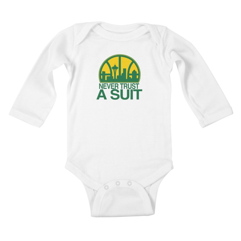 What Happened to the Sonics? Kids Baby Longsleeve Bodysuit by Mike Hampton's T-Shirt Shop