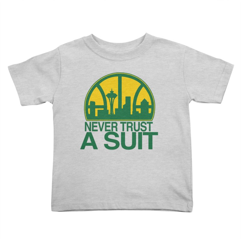 What Happened to the Sonics? Kids Toddler T-Shirt by Mike Hampton's T-Shirt Shop
