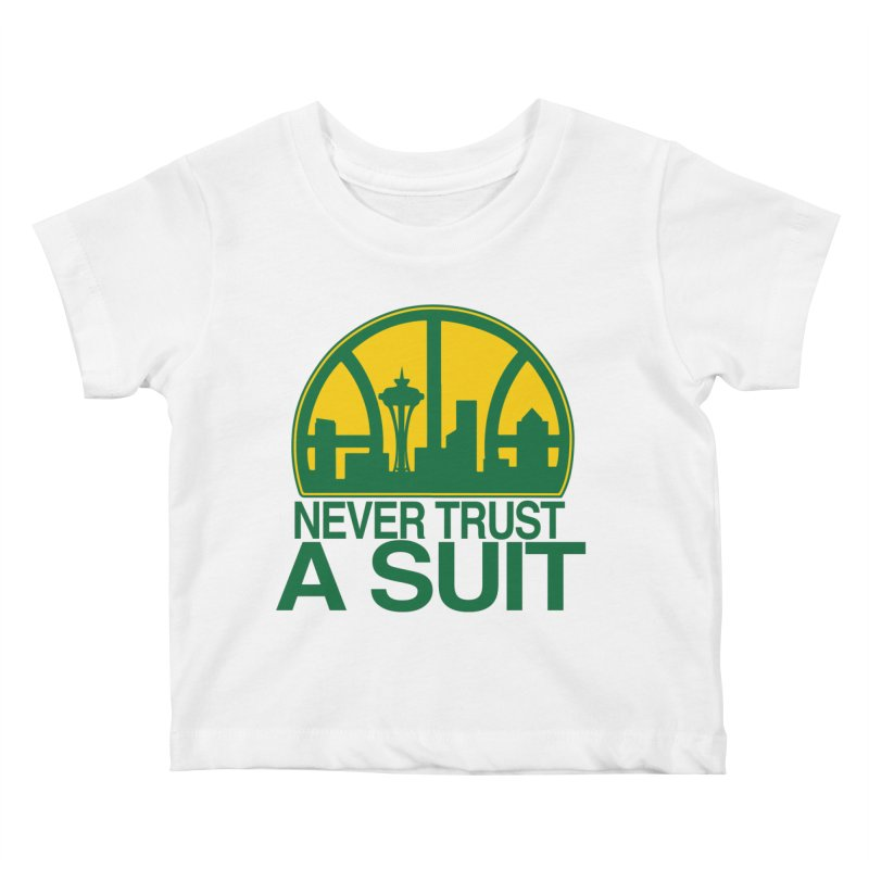 What Happened to the Sonics? Kids Baby T-Shirt by Mike Hampton's T-Shirt Shop