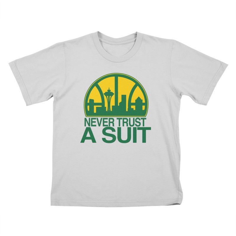 What Happened to the Sonics? Kids T-Shirt by Mike Hampton's T-Shirt Shop