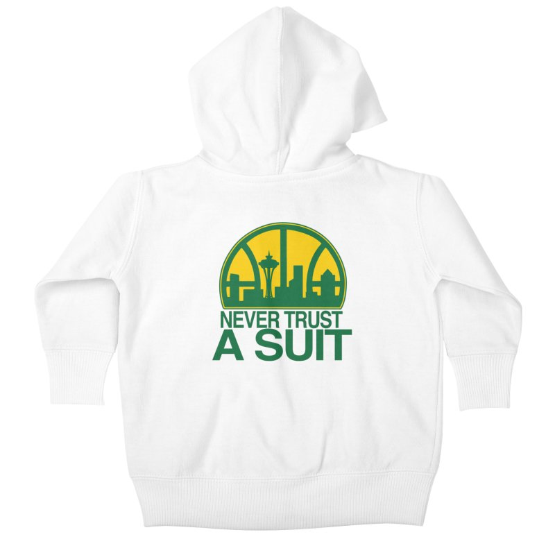 What Happened to the Sonics? Kids Baby Zip-Up Hoody by Mike Hampton's T-Shirt Shop