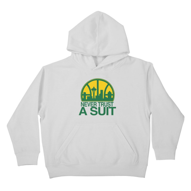 What Happened to the Sonics? Kids Pullover Hoody by Mike Hampton's T-Shirt Shop