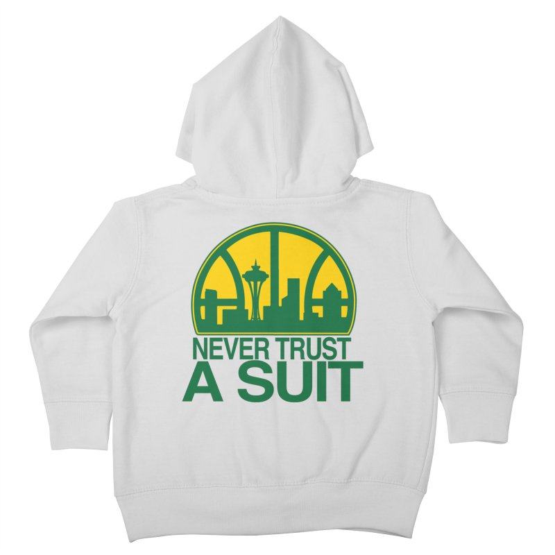 What Happened to the Sonics? Kids Toddler Zip-Up Hoody by Mike Hampton's T-Shirt Shop