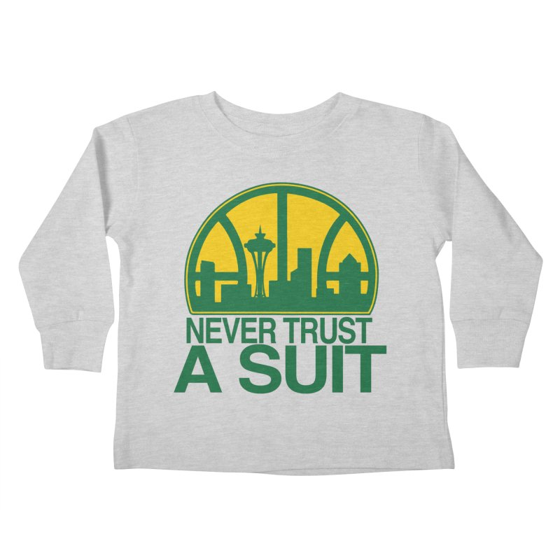What Happened to the Sonics? Kids Toddler Longsleeve T-Shirt by Mike Hampton's T-Shirt Shop