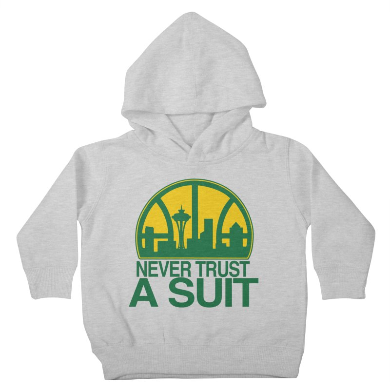 What Happened to the Sonics? Kids Toddler Pullover Hoody by Mike Hampton's T-Shirt Shop
