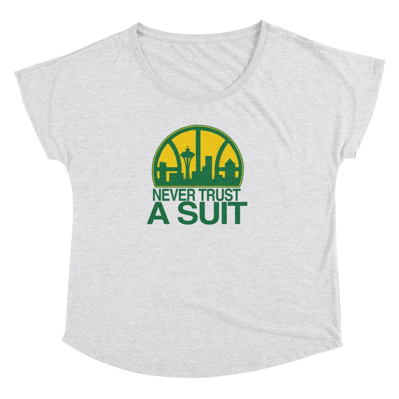 What Happened to the Sonics? Women's Dolman Scoop Neck by Mike Hampton's T-Shirt Shop