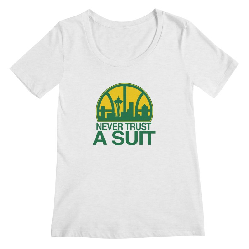 What Happened to the Sonics? Women's Scoop Neck by Mike Hampton's T-Shirt Shop