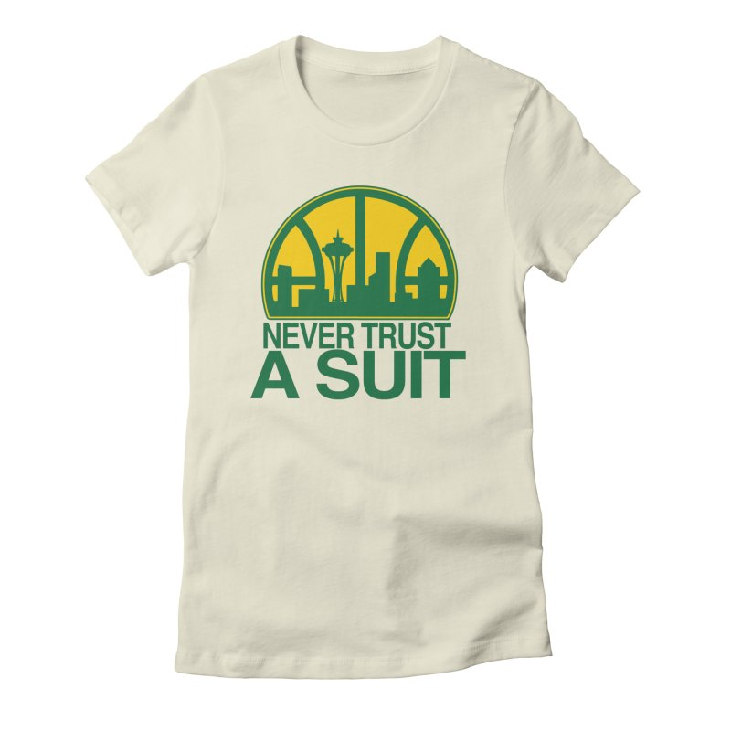 What Happened to the Sonics? Women's Fitted T-Shirt by Mike Hampton's T-Shirt Shop