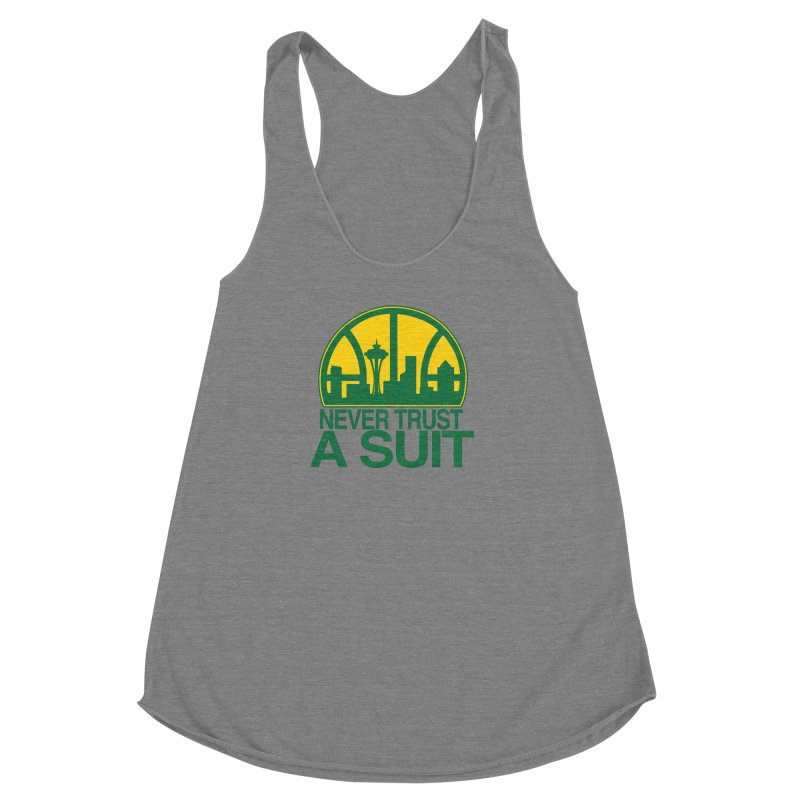 What Happened to the Sonics? Women's Racerback Triblend Tank by Mike Hampton's T-Shirt Shop