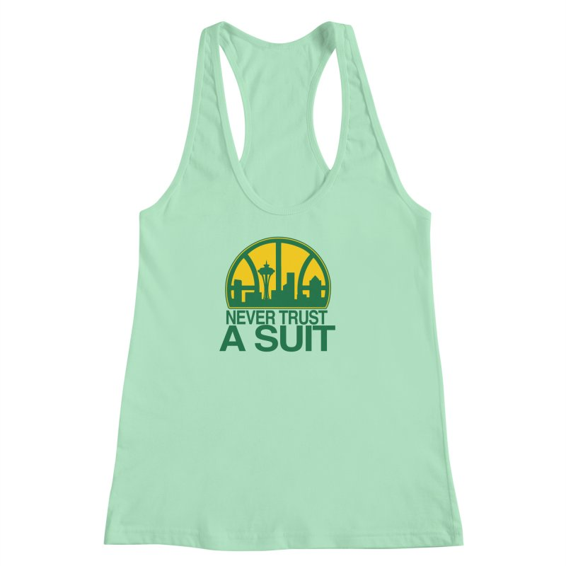 What Happened to the Sonics? Women's Racerback Tank by Mike Hampton's T-Shirt Shop