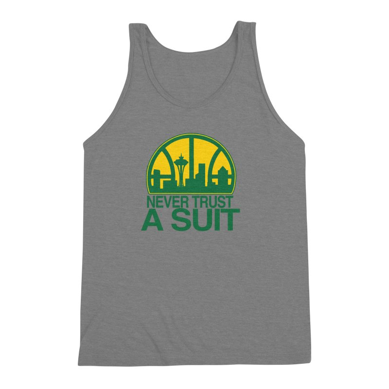 What Happened to the Sonics? Men's Triblend Tank by Mike Hampton's T-Shirt Shop