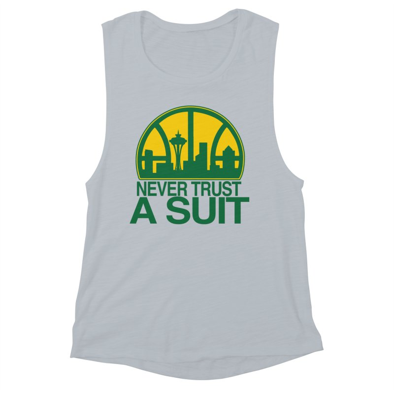 What Happened to the Sonics? Women's Muscle Tank by Mike Hampton's T-Shirt Shop