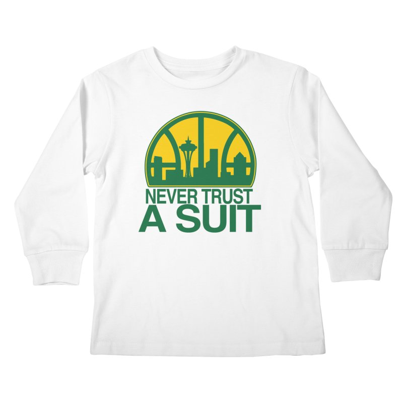 What Happened to the Sonics? Kids Longsleeve T-Shirt by Mike Hampton's T-Shirt Shop