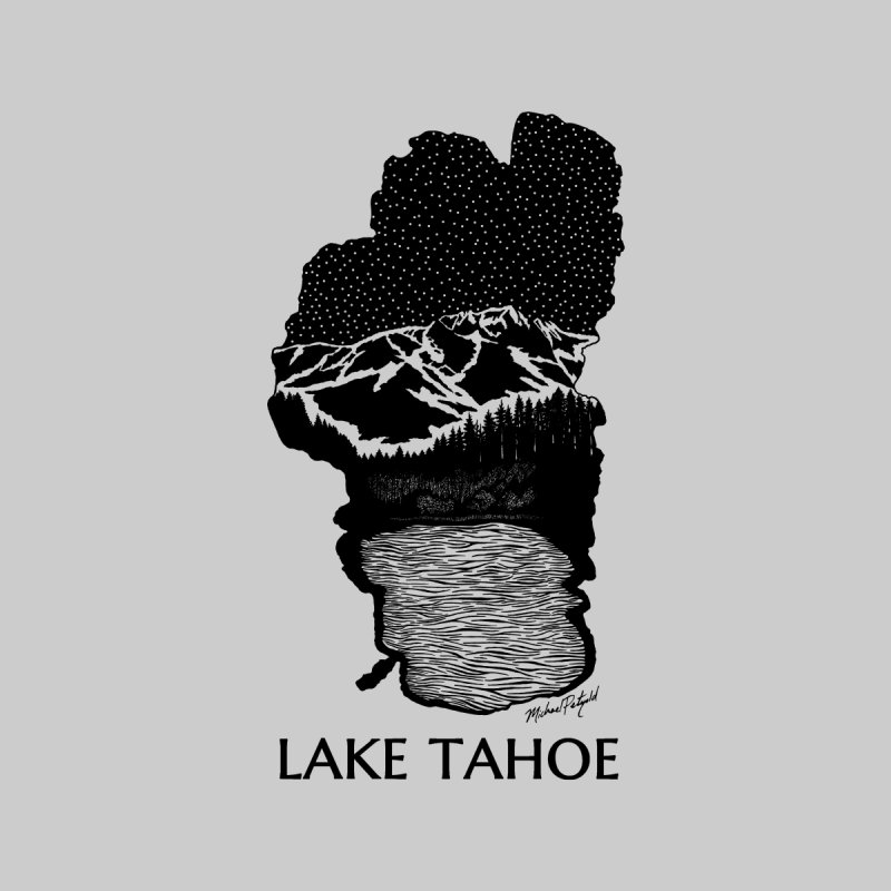 Lake Tahoe Men's T-Shirt by Mike Petzold's Artist Shop