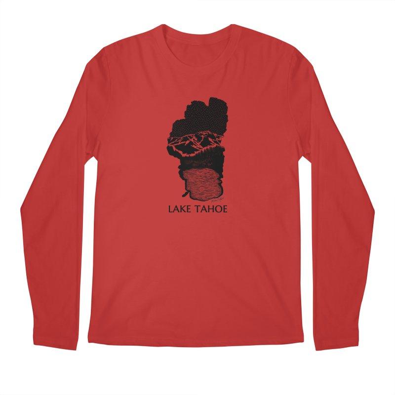 Lake Tahoe Men's Regular Longsleeve T-Shirt by Mike Petzold's Artist Shop