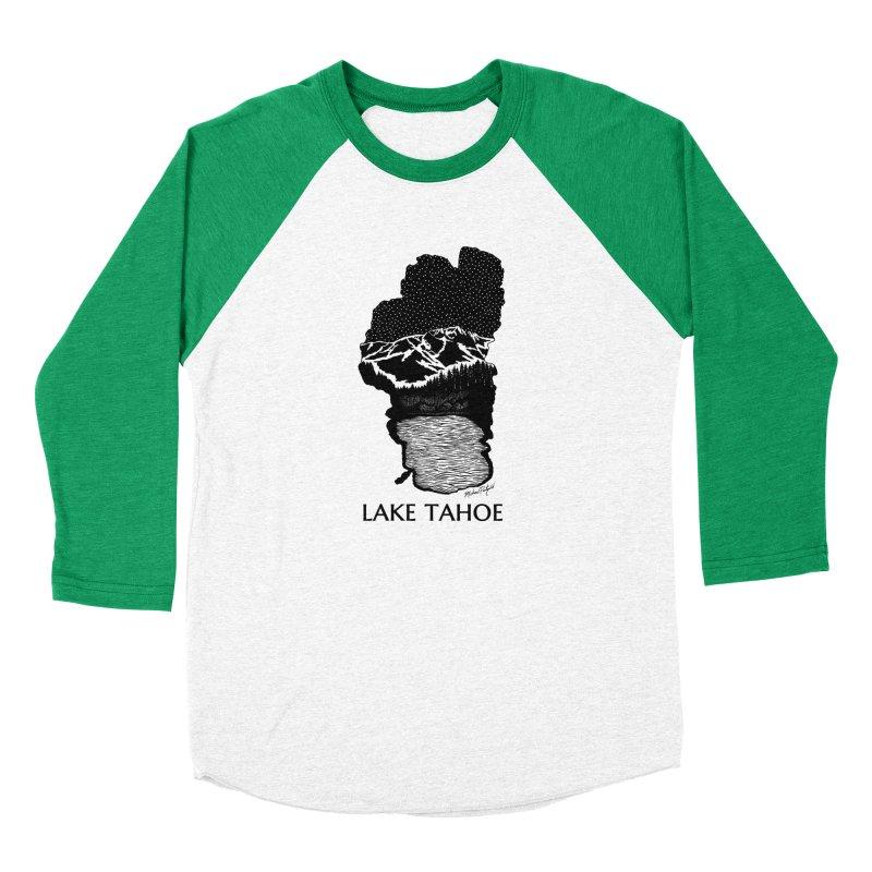 Lake Tahoe Women's Baseball Triblend Longsleeve T-Shirt by Mike Petzold's Artist Shop