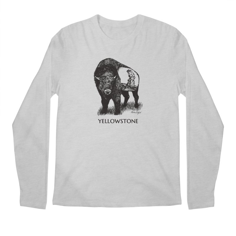 Buffalo of Yellowstone Men's Longsleeve T-Shirt by Mike Petzold's Artist Shop
