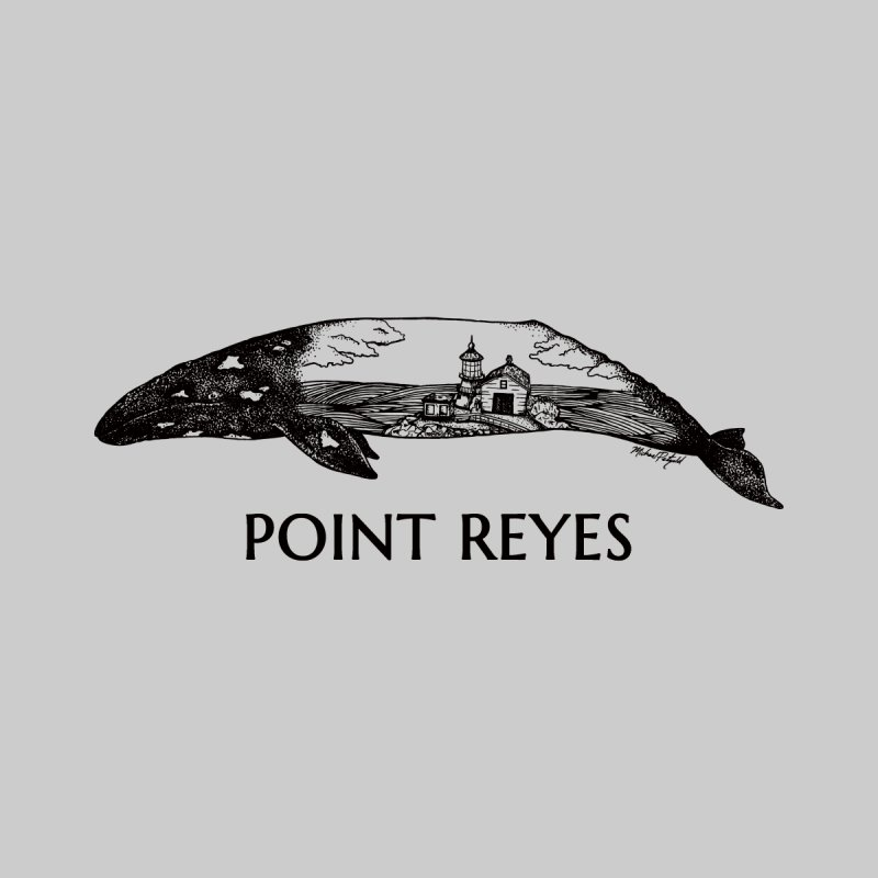 Whale of Point Reyes Women's Sweatshirt by Mike Petzold's Artist Shop