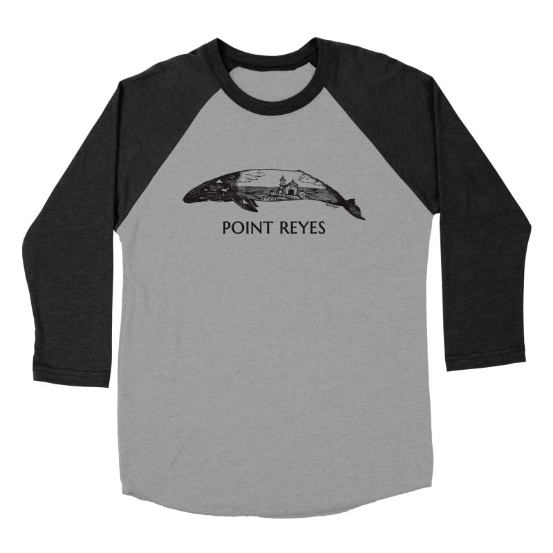Whale of Point Reyes Women's Baseball Triblend Longsleeve T-Shirt by Mike Petzold's Artist Shop