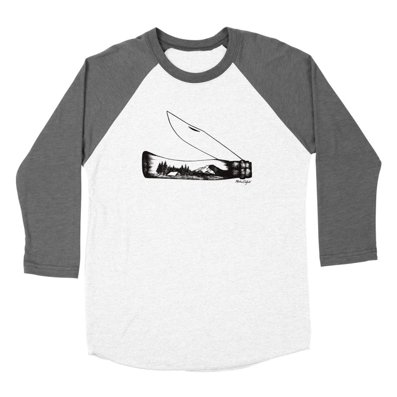 Wild Shasta Women's Baseball Triblend Longsleeve T-Shirt by Mike Petzold's Artist Shop