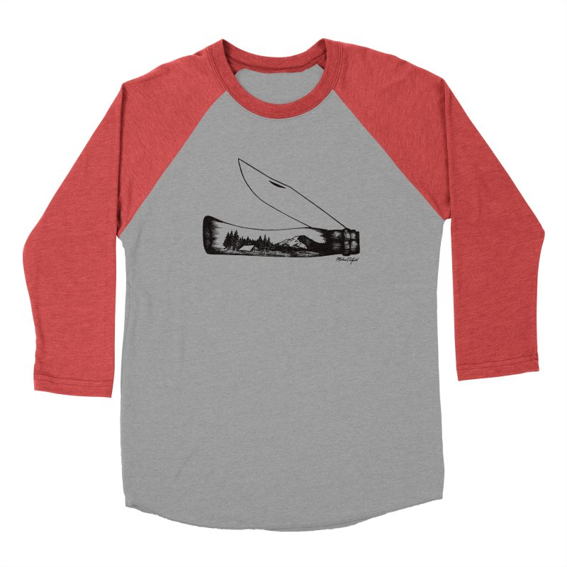 Wild Shasta Women's Baseball Triblend Longsleeve T-Shirt by Mike Petzold's Artist Shop