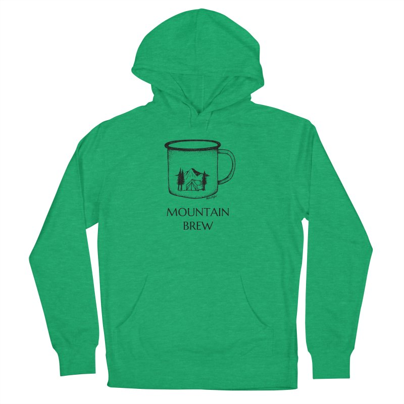 Mountain Brew Men's French Terry Pullover Hoody by MikePetzold's Artist Shop
