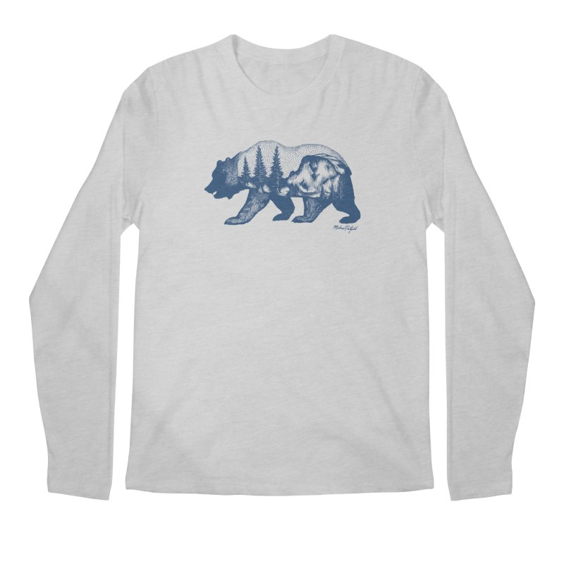 Limited Release! Yosemite Bear Men's Longsleeve T-Shirt by Mike Petzold's Artist Shop