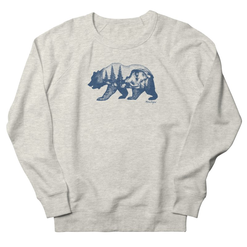 Limited Release! Yosemite Bear Men's French Terry Sweatshirt by Mike Petzold's Artist Shop