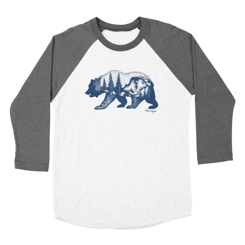 Limited Release! Yosemite Bear Men's Baseball Triblend Longsleeve T-Shirt by Mike Petzold's Artist Shop