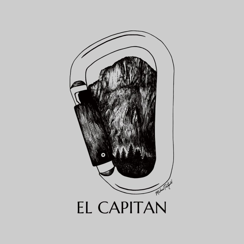 Climb El Capitan Men's T-Shirt by Mike Petzold's Artist Shop
